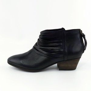 Clarks Black Leather Ankle Booties Size 6M